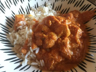 Butter-Chicken mit Naan Brot