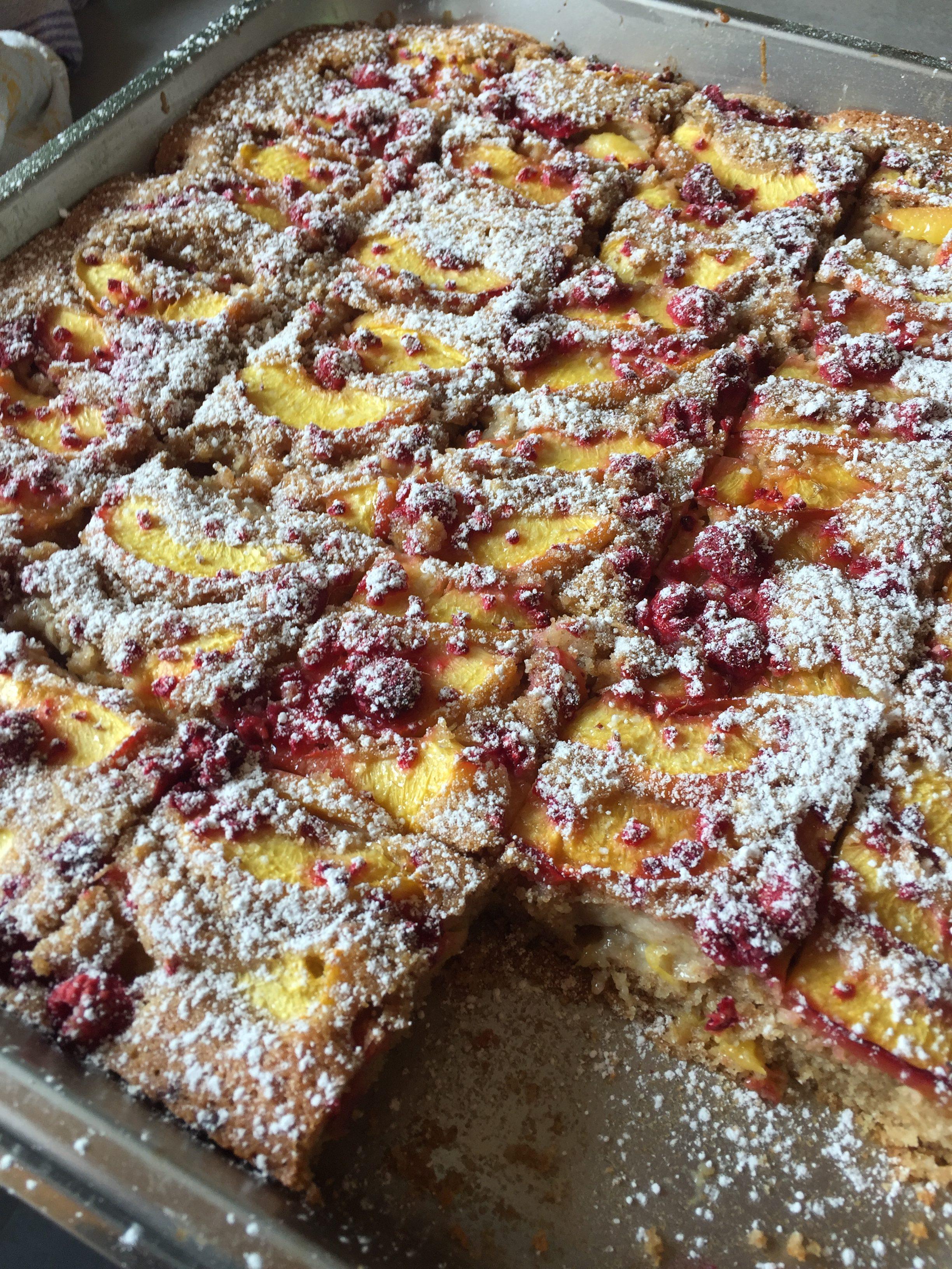 Pfirsich-Himbeer Kuchen auf waskochen.at