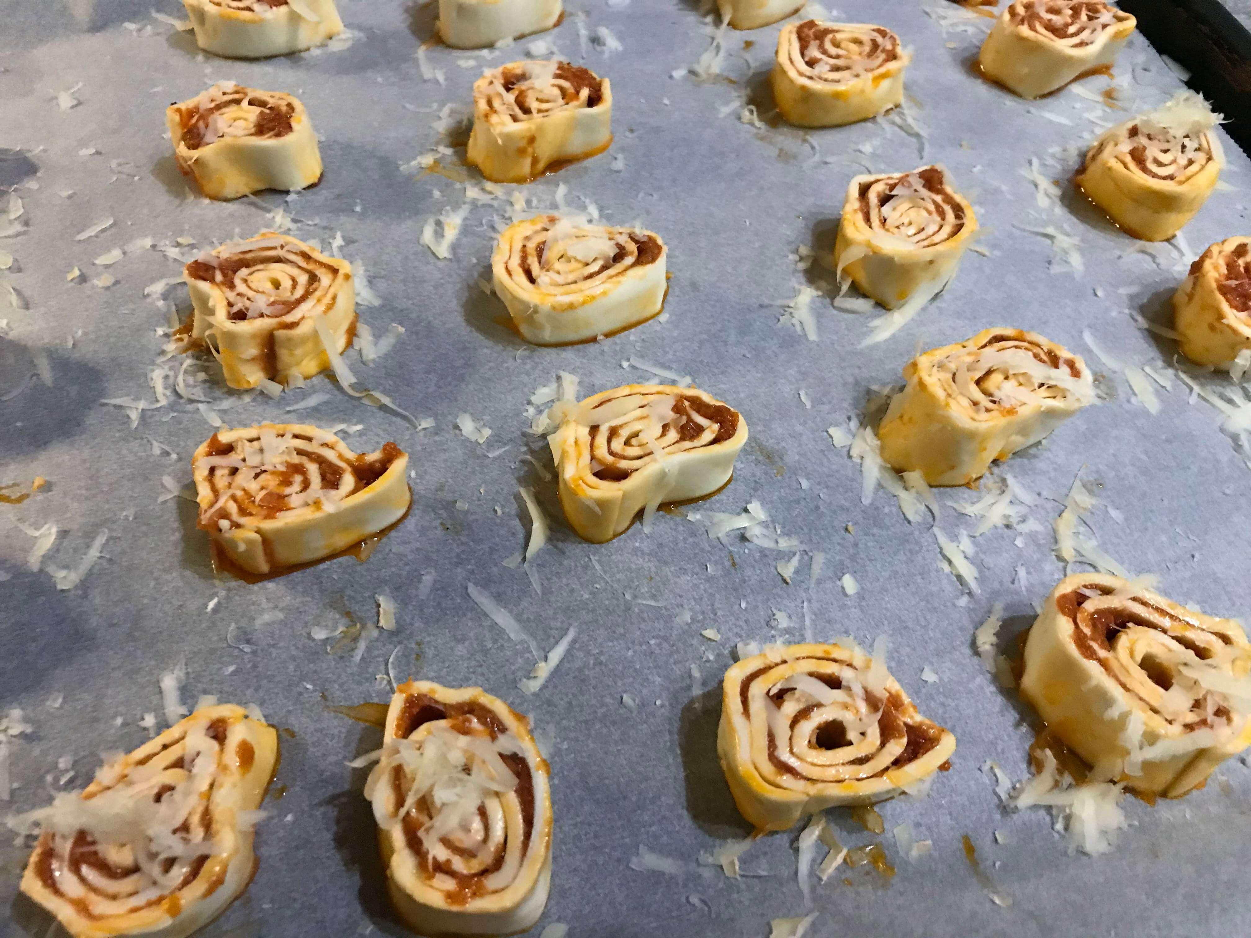 Waskochen Blaetterteig Pesto Schnecken auf waskochen.at