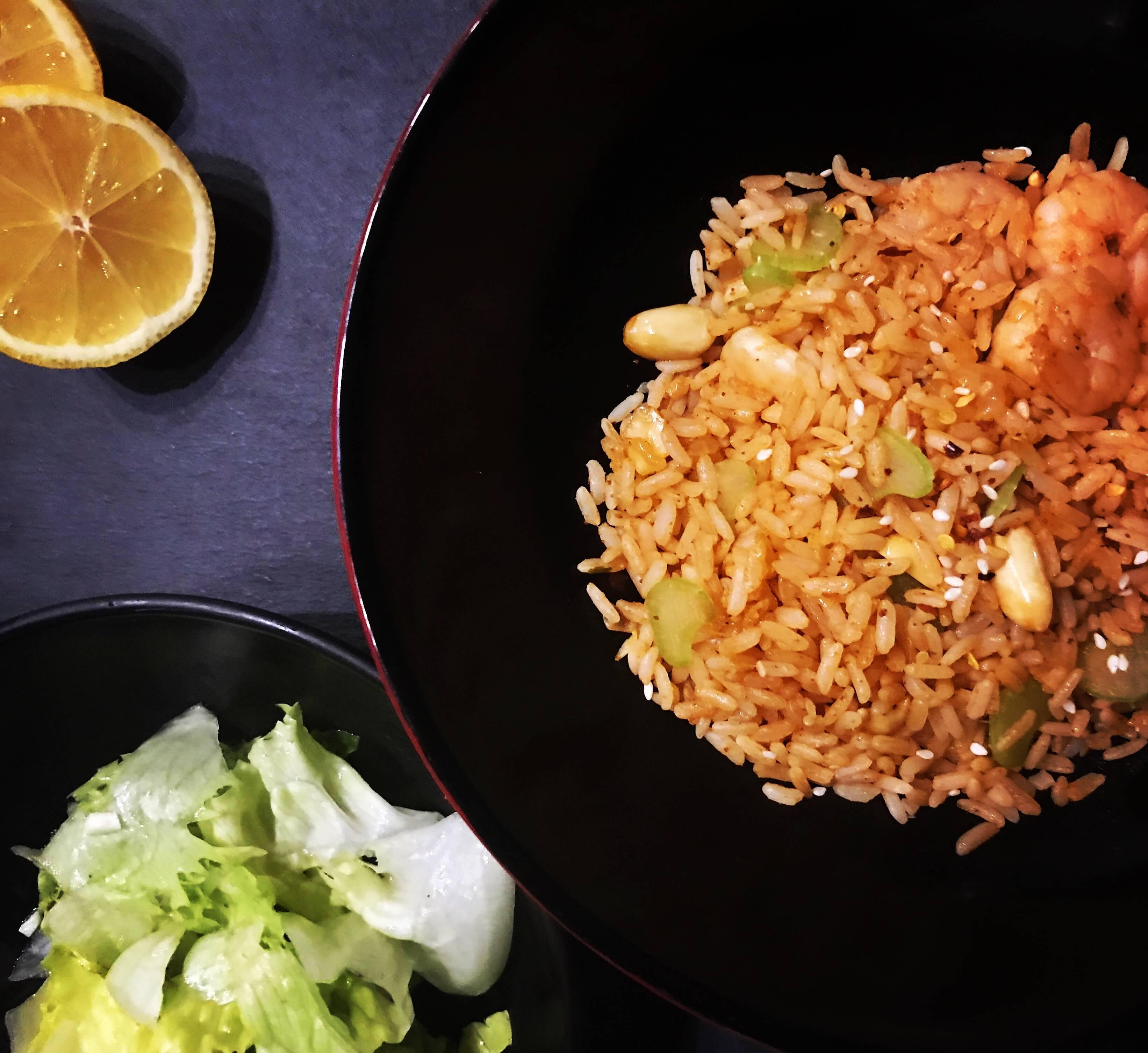 Waskochen Reispfanne Garnelen auf waskochen.at